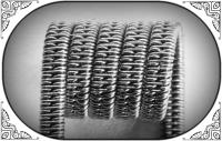 Staggered Clapton Coil (SS,NiCr)