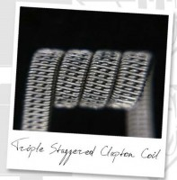 Triple Staggered Clapton Coil (NiCr,NiCr)