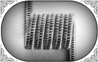 Staggered Clapton Coil (NiCr,NiCr) (MTL) (2 шт.)
